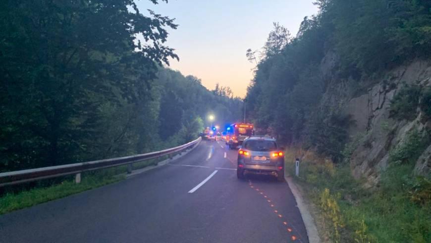 Verkehrsunfall Aufräumarbeiten (20.07.2020)